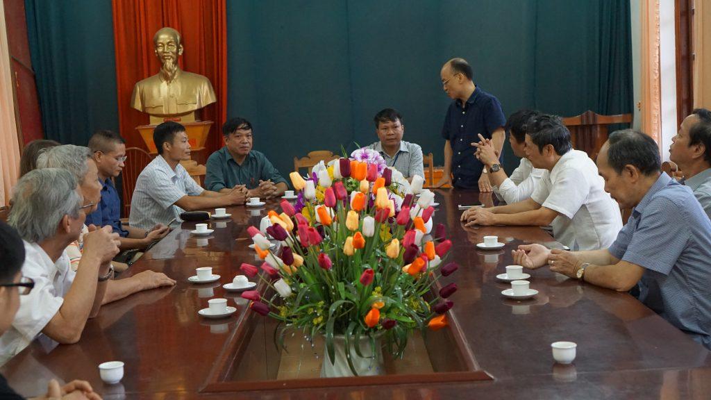 PGS. TS Nguyễn  Văn Sửu - Trưởng Khoa phát biểu cảm ơn tới chính quyền địa phương
