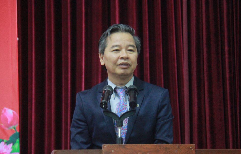 GS.TS Phạm Quang Minh phát biểu tại lễ khai giảng Khoa Nhân học
