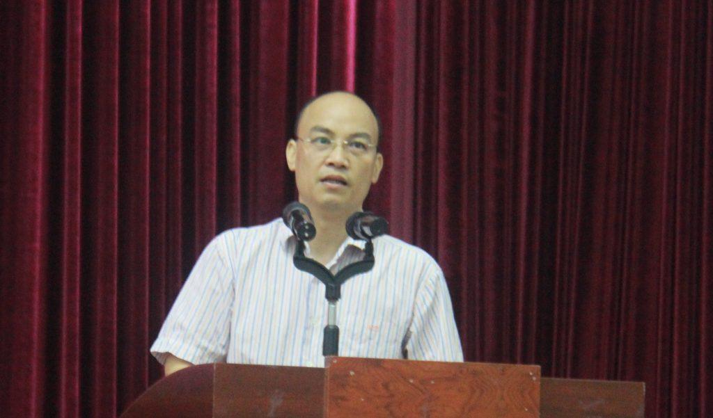 PGS.TS Nguyễn Văn Sửu phát biểu tại lễ khai giảng