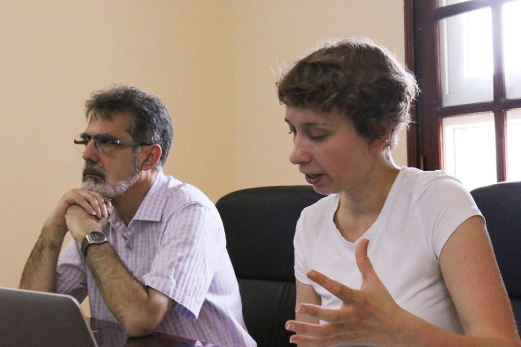 Người thuyết trình là nhà nhân học Carolin Landgraf