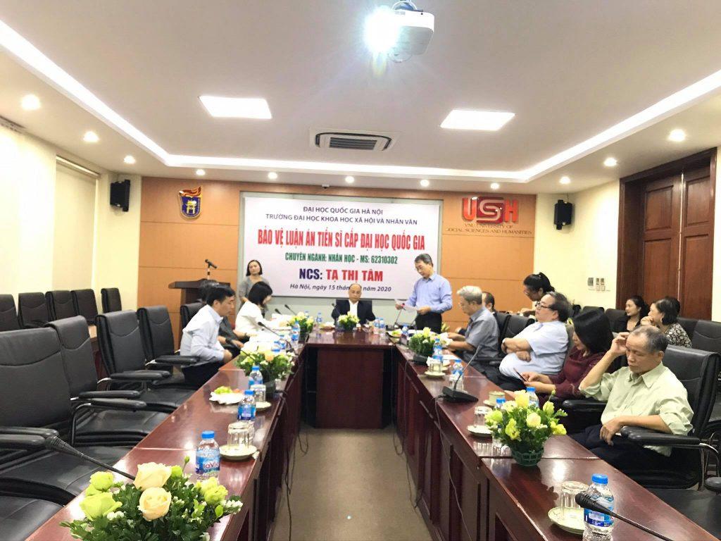 Hội đồng chấm luận án Tiến sĩ cấp ĐHQG cho NCS Tạ Thị Tâm